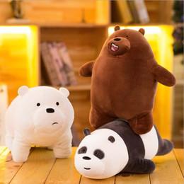 Cerimonia nuziale della panda online-30cm Kawaii Bears Peluche Orso di peluche Orso farcito Bambola panda Bambini Amore Regali di compleanno Decorazione di nozze
