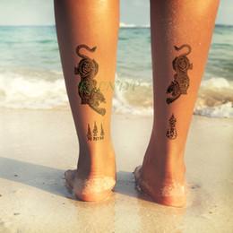 chicas tatuajes falsos Rebajas Impermeable Etiqueta Engomada Del Tatuaje Temporal Tigre leopardo Animal tamaño grande falso tatto flash tatoo tatouage temporaire para mujeres niña hombres