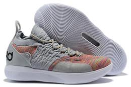Easter kd sapatos on-line-Mulheres baratos KD 11 crianças tênis de basquete Oreo Preto Azul Páscoa Amarelo Vermelho Meninos Meninas Juventude Crianças Kevin Durant XI tênis tênis para venda