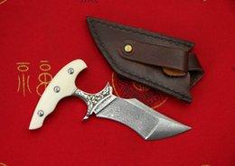 Лезвия кинжала из дамасской стали онлайн-Продвижение Push Кинжал открытый фиксированным лезвием нож EDC карманные ножи VG10 Дамасская сталь один край Танто лезвие ножа