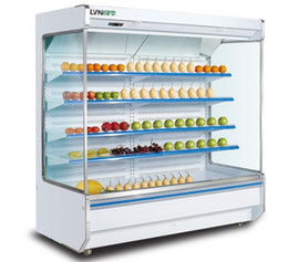 Canada Armoire à rideaux d'air Supermarché grande armoire à boissons aux fruits et légumes lait congélateur armoire congélateur 2-10 degrés Celsius Offre