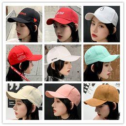 61541400dee22 30 Designs Baseball Cap Sun Hats For Women Men Hip Hop Hat Fashionable  Embroidery Lover Snapback Caps Cotton Peaked Cap Adjustable on sale