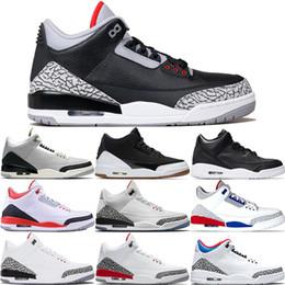2019 forro de tenis III Zapatos de baloncesto para hombre Juego de la caridad de moca Pure White Infrared Black Cement Fire Red Free Throw Line III Sports Sports Sneakers 40-47 forro de tenis baratos