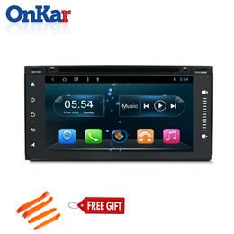 Dvd autoradio für rav4 online-Onkar 6,95 Zoll Auto GPS-Radio für Toyota Prado Fortuner Yaris Rav4 mit DVD-CD-Player Android 8,1 RAM 2 GB ROM 32 GB Mirror Link