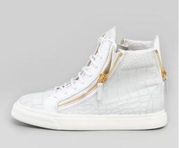 Новый бренд итальянский дизайнер мужчины кроссовки Женщины Повседневная обувь из натуральной кожи на шнуровке высокие топы коричневый двойной молнии декоративные от