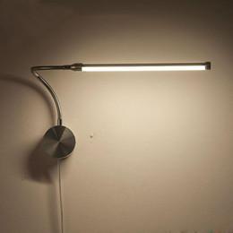 Connettori americani online-Lampade da parete a LED da 6 W Lampade con spina europea / spina americana Lampada da comodino per camera da letto da interno Illuminazione per lettura AC90-260V