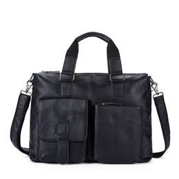 bolsa vintage de carteiro de couro Desconto Bag Computer Business Briefcase Vintage de Nova Moda Messenger Bags Man Shoulder Bag Postman Masculino Bolsas Men couro genuíno