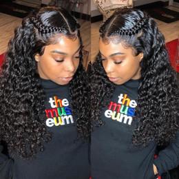 24-дюймовые мокрые волнистые человеческие волосы онлайн-24 дюйма 13x6 глубокая часть кружева спереди вьющиеся парики человеческих волос полные концы мокрая и волнистая волна перуанские девственные волосы парики для женщин черный