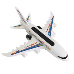 2019 aerei remoti elettrici Giocattoli per bambini Telecomando Aeromobile Elettrico a due vie Modello di aeromobile A380 Puzzle Giochi all'aperto Ragazzi e ragazze Regali di compleanno aerei remoti elettrici economici