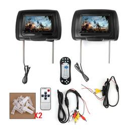 honda civic dvd tv gps Promotion 2x HD voiture DVD appui-tête numérique moniteur TV USB IR SD vidéo jeu HDMI Lecteur DVD