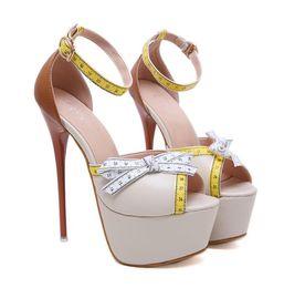 16 см ультра высокий каблук женская дизайнерская обувь Мода лоскутное лодыжки ремешками платформы насосы размер 34 до 40 supplier womens strappy heels от Поставщики женские ленточные каблуки