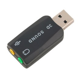 ¡En stock! Adaptador de tarjeta de sonido de auriculares 5.1 de audio de USB 2.0 a 3D Micrófono para computadora portátil de PC Nueva llegada desde fabricantes