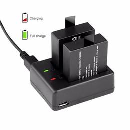 Sport Pratico Camera Accessories Caricabatteria doppio per SJ4000 Wifi M10 con cavo USB doppio slot per caricabatterie da caricabatteria universale a ioni di litio fornitori