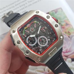 Relógio de forma irregular on-line-Relógio de luxo dos homens RM marca de moda personalidade barril esqueleto relógio de quartzo cronômetro monterey hommes Relogio feminino Montre Femme