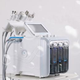 Máquina de remoção de oxigênio on-line-6in1 H2-O2 Hydra dermoabrasão do Aqua Peel RF Bio-levantar Spa Facial Hidro água Microdermabrasion Facial oxigênio spray Martelo fria máquina de