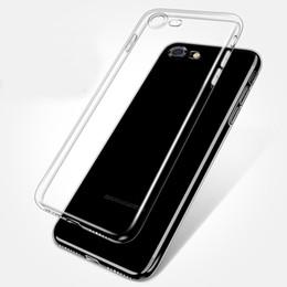 Custodia in silicone TPU trasparente per 7 7Plus 8 8Plus X XS MAX XR Custodia per telefono trasparente per iPhone 6 / 6s 6Plus 6sPlus da bordatura in plastica nera fornitori