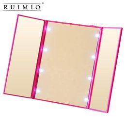 RUIMIO Miroir de maquillage de voyage illuminé à led Miroirs pliants à miroir Miroir portable illuminant les miroirs de voyage pliables ? partir de fabricateur