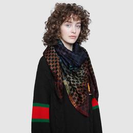 sciarpe di seta arcobaleno Sconti Top Designer Scialle jacquard Sciarpa arcobaleno in cashmere di seta per donna Uomo 2019 Sciarpe scozzesi di marca invernale Sciarpe di lusso Sciarpa infinita Pashmina