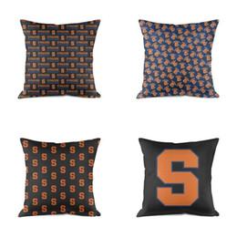 2019 cuscini divano nero rosso Syracuse Orange Basketball logo cotone resistente dell'ammortizzatore del cuscino estraibile lavate per Sofa Università blu bianco nero USA flag Gay rossa cuscini divano nero rosso economici