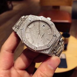 TW de lujo para hombre relojes mecánicos automáticos originales plegables reloj hebilla manual completo conjunto diamante 41mm desde fabricantes