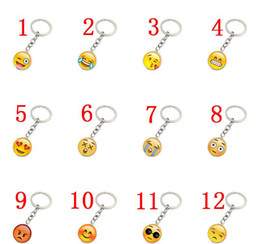 Llavero cara sonriente online-EUBFREE 30 unids 19 Diseños Smiley Face collar Emoji colgantes Sonrisa llavero mejores amigos regalos Smiley Face llavero joyería colgante de regalo