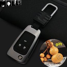 keychain chevrolet Sconti Keychain vuoto in lega di zinco Car Remote Key Case Cover Per Chevrolet Cruze Epica Malibu Aveo Camero Sail Trax