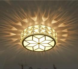 2019 entrada de arañas modernas Candelabros de luz de techo LED de cristal AC90-260V Moderno LED Lámpara de cristal Luz de pasillo Luces de entrada creativas Lámparas de techo entrada de arañas modernas baratos