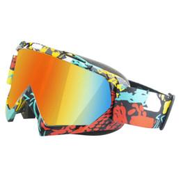 Esqui cross on-line-Snowboard Esqui Skate À Prova de Poeira À Prova de Vento Cross-country Óculos Óculos De Snowmobile
