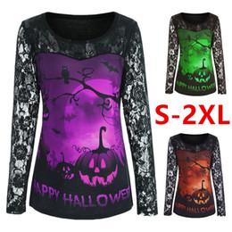 Argentina disfraces de halloween para las mujeres de Halloween imprimen mangas largas Pullover Camiseta de primavera y otoño ropa de las mujeres al por mayor CSS358 Suministro