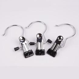 Pinzas de ropa online-Multi función de secado de aire Clip de metal antideslizante portátil Abrazadera con gancho Inicio Percha Ropa Alta calidad 1 05sy Ww