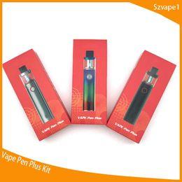 boné de caneta de vapor Desconto Vape caneta plus kit com 4 ml tanque 3000 mah bateria top cap design de enchimento maior atualização de ar a partir de caneta vape 22 dhl frete grátis