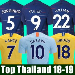700b520754 tailandia Rebajas Camiseta de fútbol HAZARD jersey CHELSEA Thailand 2019  Camiseta de fútbol MORATA BAKAYOKO RUDIGER