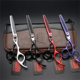 Équipement de coiffure en Ligne-En gros 6.0 Pouce Coiffure Ciseaux Barber Coupe De Cheveux Cisailles Set Salon De Coiffure Outil Avec La Haute Qualité