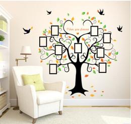 2019 adesivi familiari Love Tree Wall Stickers Photo Tree Family Wall Sticker Soggiorno creativo Televisione Adesivo Decorazione della casa adesivi familiari economici