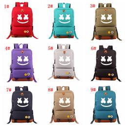 diseñador de alta calidad bolsos amarillos Rebajas 9 estilos Marshmello Alone DJ School Bag Teenagers Cosplay Canvas Cosplay mochila Travel Casual Laptop Mochila bolsa de almacenamiento de hombro FFA2931