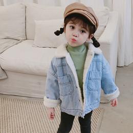 coreano moda crianças inverno casacos Desconto 1 2 3 4 5 Y criança Meninas Casacos coreano Moda Outono Inverno Engrosse jaquetas jeans para a menina Kids Clothing 2020 Crianças Jacket