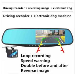 2019 автомобильная зеркальная камера заднего вида rearview mirror Car Dvr driving recorder front and rear HD video 1080p camera dual lenswith reversing image electronic dog one дешево автомобильная зеркальная камера заднего вида