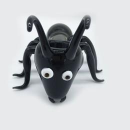 Tubi di vetro all'ingrosso Tubo di fumo di tabacco in vetro a forma di formica nera Tubi resistenti al calore in stile animale creativo in vendita Smokinghot da commercio all'ingrosso ant nero fornitori