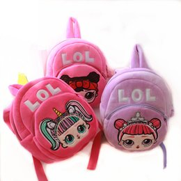 Storage americano online-American Style Kids Designer fumetto bambole di peluche zaino borse di stoccaggio del fumetto delle ragazze Zaini hop-pocket dei regali di natale sacchetti DHL libera