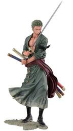 Figurine di un pezzo online-Ace Luffy Sabo Action Roronoa Zoro Figura 20cm Pvc Cartoon Figurine One Piece Giocattoli Juguetes C19041501
