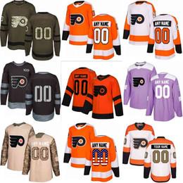 8d130cc04 Custom Mens Women Youth Philadelphia Flyers Hockey 28 Claude Giroux 17  Wayne Simmonds 53 Gostisbehere 2019 Stadium Series Series S-3XL