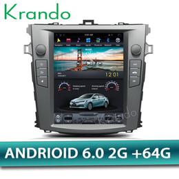 corolla de navegação de gps de carros toyota Desconto Krando Android 6.0 10.4