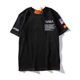 figura completa moda por atacado Desconto 19ss verão marca designer t camisas dos homens tees t camisa marca carta padrão mens clothing manga curta camiseta casual t-shirt