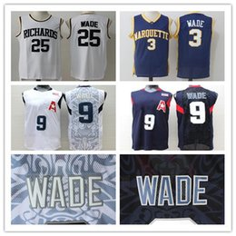 Canada 3 Dwyane Jersey Marquette College Jeux Olympiques 2008 # 9 Wade Richards High School # 25 Chemise en jersey cousue S-2XL supplier dwyane wade shirt Offre