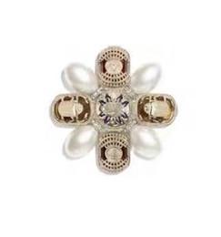 pin carretes Rebajas Las señoras de las mujeres de lujo de moda de las mujeres estampadas perla palacio barroco broches alfileres con caja envío gratis