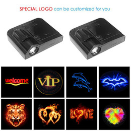 Voiture légère led hyundai en Ligne-1pcs Wireless LED Car Porte de voiture Bienvenue Projecteur laser logo Ghost Shadow Light pour Volkswagen Ford BMW Toyota Hyundai Kia Mazda Audi