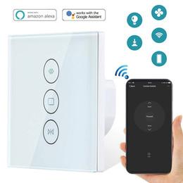 Smart Switch Cortina WiFi motorizado eléctrico Cortina Ciegos Interruptor obturador del rodillo funciona con Alexa Google hogar inteligente Vida Tuya desde fabricantes