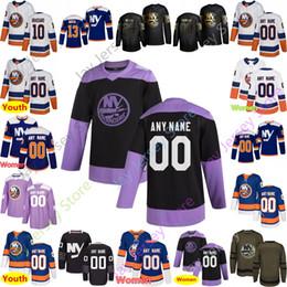 Hockey jersey york online-Personalizzato New York Islanders Jersey Mathew Barzal Brock Nelson Derick Brassard Josh Bailey Anthony Beauvillier Thomas Greiss Semyon Varlamov