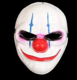 palhaços de plástico Desconto Máscara de Palhaço de Halloween PVC Galvanoplastia Unisex Máscara Cosplay Filme Estrelas Palco Palco Máscara De Plástico