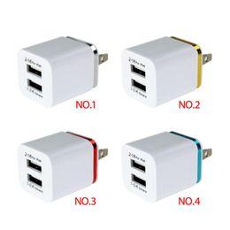 Canada Chargeur mural double USB QiChen 5V 2.1 A Chargeur adaptateur de voyage en métal pour tablette Samsung S10 S9 iPX Xs Max LG Offre